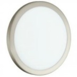 Eglo One Light Nickel Bowl Flush Mount - 91853A