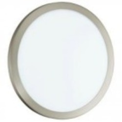 Eglo One Light Nickel Bowl Flush Mount - 91854A