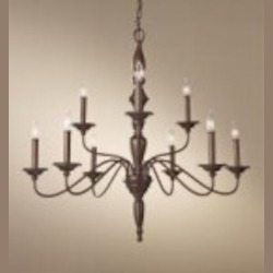 Feiss Nine Light Prescott Bronze Up Chandelier - F2790/6+3PRBZ