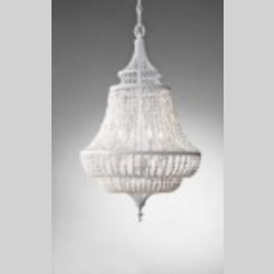 Feiss Four Light White Semi Gloss Up Chandelier - F2807/4WSG