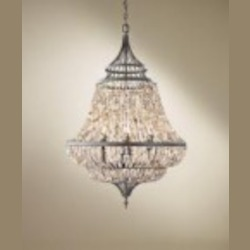Feiss Six Light Rustic Iron Up Chandelier - F2808/6RI