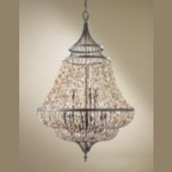 Feiss Nine Light Rustic Iron Up Chandelier - F2809/9RI