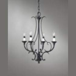 Feiss Four Light Black Up Chandelier - F2820/4BK