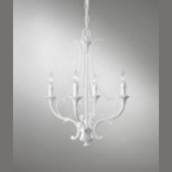 Feiss Four Light Semi Gloss White Up Chandelier - F2820/4SGW