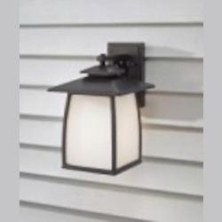 Feiss One Light Oil Rubbed Bronze White Opal Etched Glass Wall Lantern - OL8502ORB