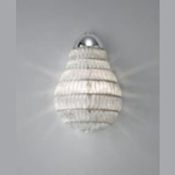 Feiss One Light Chrome Clear Beads Glass Wall Light - WB1600CH