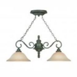 Jeremiah Two Light English Toffee Faux Alabaster Shade Island Light - 22422-ET
