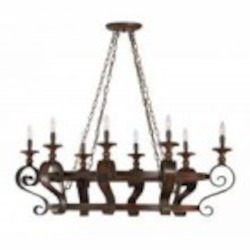 Jeremiah Eight Light Spanish Bronze Pot Rack - 28038-SPZ