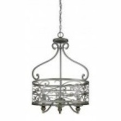 Jeremiah Three Light Athenian Obol Foyer Hall Pendant - 35833-AO