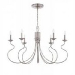 Jeremiah Eight Light Brushed Nickel Island Light - 36278-BNK