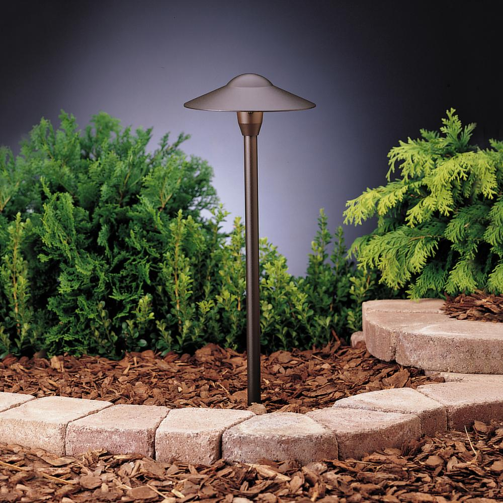 Kichler landscape textured architectural bronze path light for Garden lights