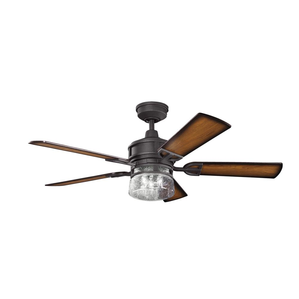 Black Ceiling Fans : Kichler three light distressed black ceiling fan dbk