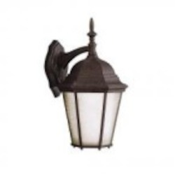 Kichler One Light Tannery Bronze Wall Lantern - 10954TZ