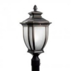 Kichler One Light Rubbed Bronze Post Light - 11008RZ