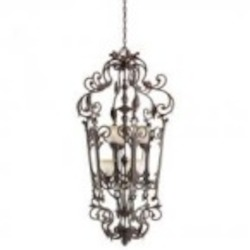 Kichler Six Light Carre Bronze Up Chandelier - 2471CZ