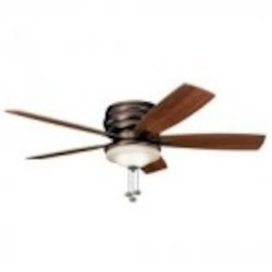Kichler Three Light Oil Brushed Bronze Outdoor Fan - 300119OBB