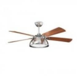 Kichler Three Light Polished Nickel Ceiling Fan - 300142PN
