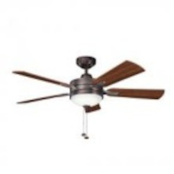 Kichler Three Light Oil Brushed Bronze Ceiling Fan - 300148OBB