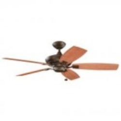 Kichler Tannery Bronze Powder Coat Outdoor Fan - 310192TZP