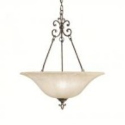 Kichler Three Light Carre Bronze Up Pendant - 3391CZ
