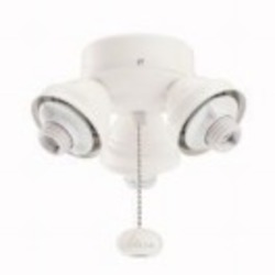 Kichler Three Light Satin Natural White Fan Light Kit - 350010SNW