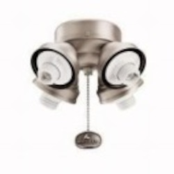 Kichler Four Light Satin Natural Bronze Fan Light Kit - 350011SNB