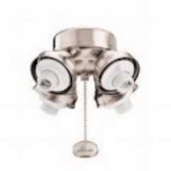 Kichler Four Light Brushed Stainless Steel Fan Light Kit - 350011BSS