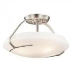 Kichler Four Light Brushed Nickel Bowl Semi-Flush Mount - 42063NI