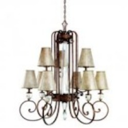 Kichler Nine Light Heritage Bronze Up Chandelier - 42171HB