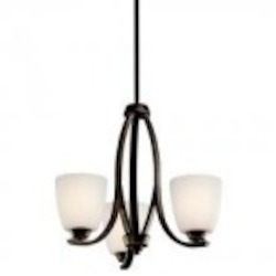 Kichler Three Light Olde Bronze Up Mini Chandelier - 42556OZFL