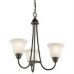 Kichler Three Light Olde Bronze Up Chandelier - 42883OZ