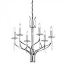 Kichler Six Light Chrome Up Chandelier - 42927CH