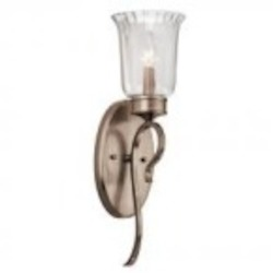 Kichler One Light Brushed Silver & Gold Wall Light - 43243BRSG