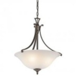 Kichler Three Light Olde Bronze Up Pendant - 43405OZ