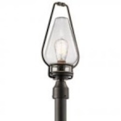 Kichler One Light Anvil Iron Post Light - 49008AVI