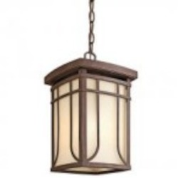 Kichler One Light Aged Bronze Hanging Lantern - 49152AGZ