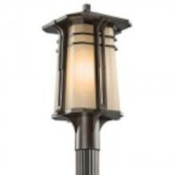 Kichler One Light Olde Bronze Post Light - 49178OZFL