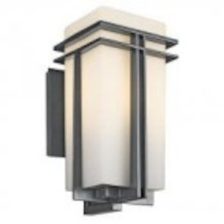 Kichler One Light Black (painted) Wall Lantern - 49202BKFL