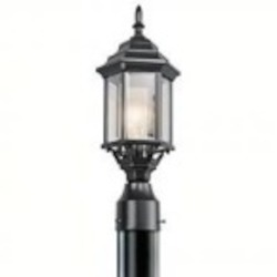 Kichler One Light Black (painted) Post Light - 49256BK