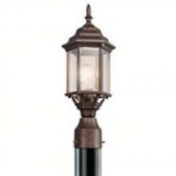 Kichler One Light Tannery Bronze Post Light - 49256TZ