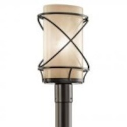 Kichler One Light Architectural Bronze Post Light - 49360AZ