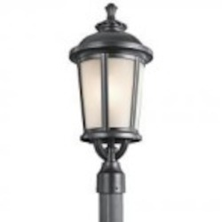 Kichler One Light Black (painted) Post Light - 49413BK