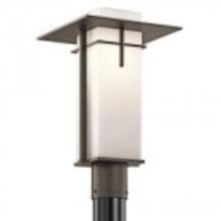 Kichler One Light Olde Bronze Post Light - 49646OZ