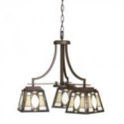 Kichler Three Light Olde Bronze Down Chandelier - 66121