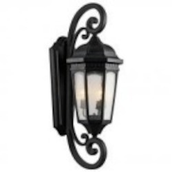 Kichler Three Light Textured Black Hanging Lantern - 9060BKT