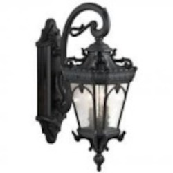 Kichler Two Light Textured Black Wall Lantern - 9357BKT