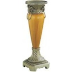 Lite Source Inc. CANDLE HOLDER - ANT. GOLD W/CERAMIC BODY - C4993