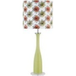 Lite Source Inc. TABLE LAMP, GREEN GLASS BODY/COLOR PRINTED SHADE, A 60W - LS-2687GRN