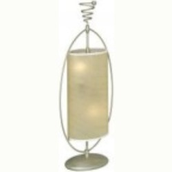 Lite Source Inc. TABLE LAMP, SILVER W.PARCHMENT SHADE 60Wx2 - LS-3786SILV