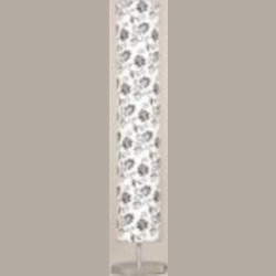 Lite Source Inc. FLOOR LAMP, CHROME/PRINTED PAPER SHADE, E27 CFL 13Wx3 - LSF-81669